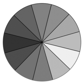 Blue Yellow Color Blindness Wheel With Shades Of Gray