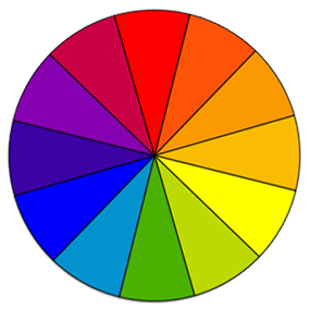 Color Wheel With 12 Different Colors