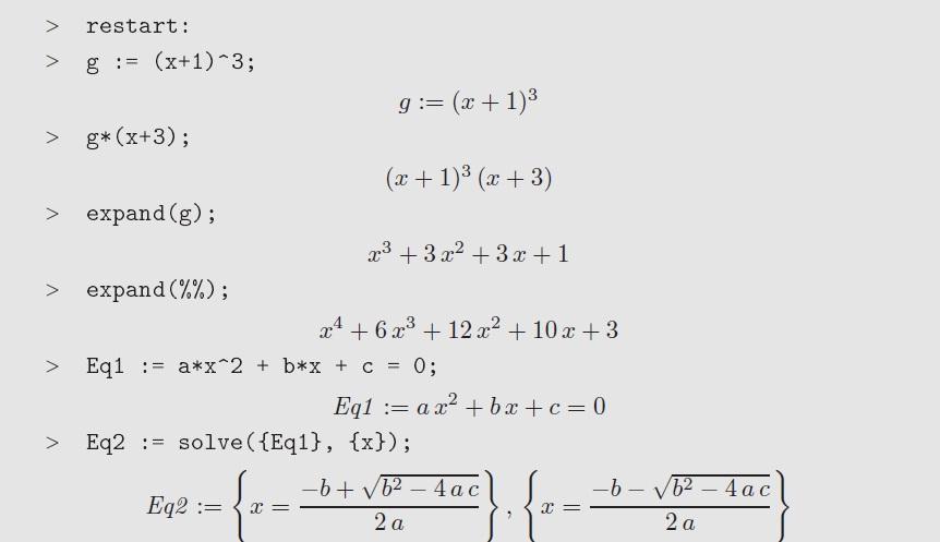 Maple code example